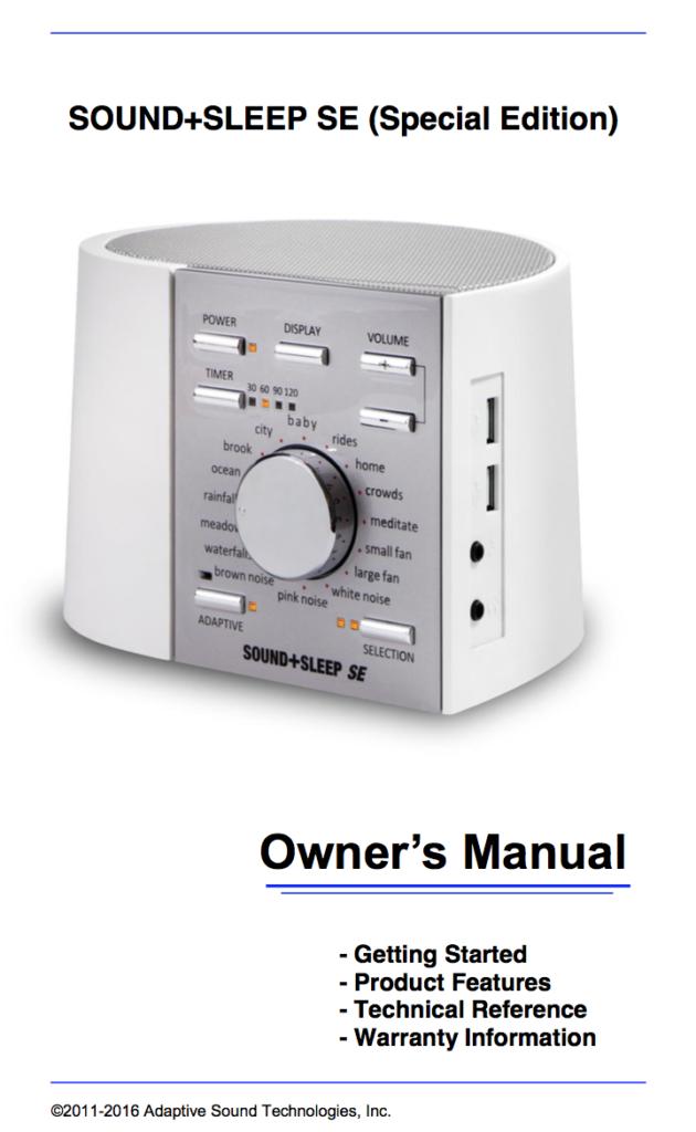 lectrofan jr user manual image
